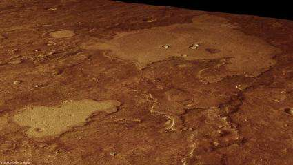 Mars Express puts craters on a pedestal