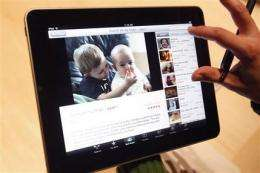 Apple's Jobs unveils 'intimate' $499 iPad tablet (AP)