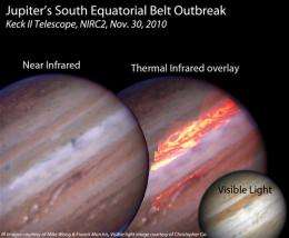 Europa helps astronomers penetrate Jupiter's lost belt