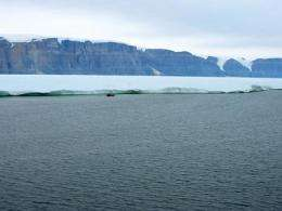 Greenland glacier calves island 4 times the size of Manhattan