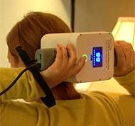 Hand-held device may prevent migraine