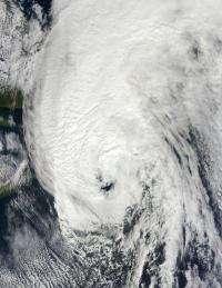 Huge post-tropical Hurricane Igor drenched Newfoundland, Canada