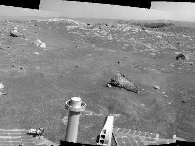 Image: Opportunity's view of Santa Maria Crater, Sol 2450