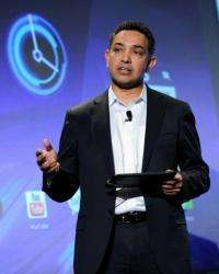 "Motorola Mobility CEO Sanjay Jha said of the Xoom: """"It's been designed ground up for the tablet, the user interface"""