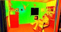 Robot provides 3-D images of dangerous locations