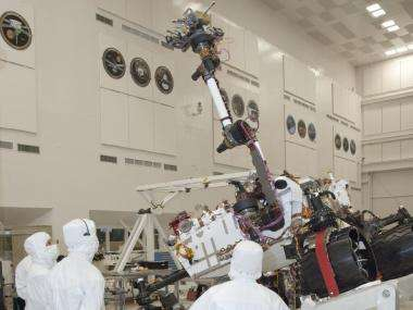 Strong robotic arm extends from next Mars rover