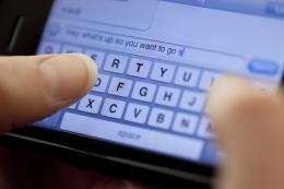 Student researches how texting culture has evolved