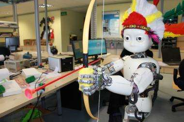 The iCub robot learns archery