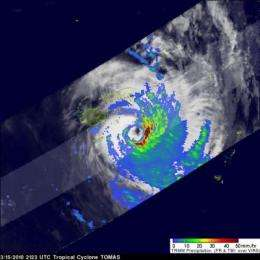 Tomas moving away from Fiji Islands after causing damages