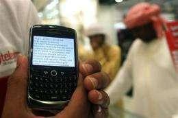 UAE, BlackBerry resolve dispute, averting ban (AP)