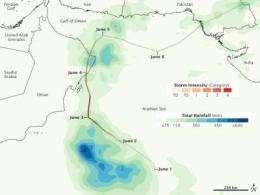 NASA'S TRMM Satellite provides rainfall estimate for Cyclone Phet