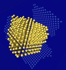 3D nanoparticle in atomic resolution