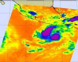 NASA infrared imagery hinted Darby would become a hurricane