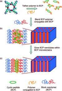 Polymer membranes with molecular-sized channels that assemble themselves