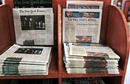The New York Times Co. reported a 26-percent drop in quarterly net profit
