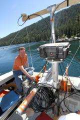 University of Nevada, Reno tests cutting-edge technology for underwater mapping at Tahoe basin