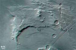 Solis Planum, 3D anaglyph view