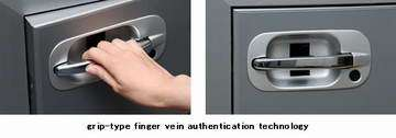 Hitachi develops grip-type finger vein authentication technology