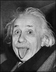 Albert Einstein, the iconic scientist, sticks his tongue out at photographers in a celebrated picture from 1951