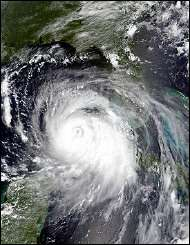 Hurricane Katrina in the Gulf of Mexico
