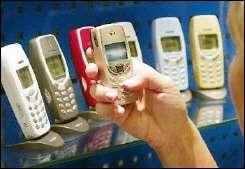 Nokia phones on display in Helsinki