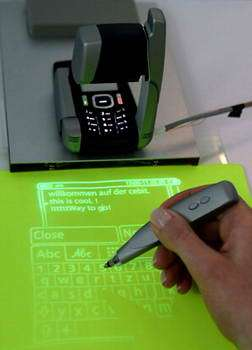 Cell Phone with Built-in Projector
