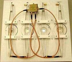 The electromagnetic system exposing four eye lenses to electromagnetic radiation