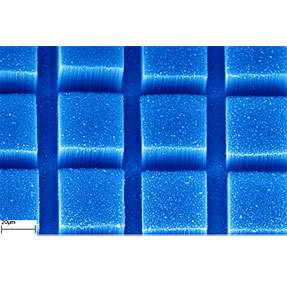 """towers"" composed of carbon nanotubes atop silicon wafers"