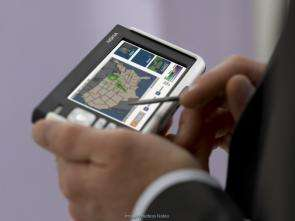 Browsing internet with Nokia pda