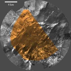 Panorama of Titan from a height of eight kilometres.