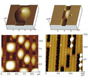 liquid morphologies on silicon substrates