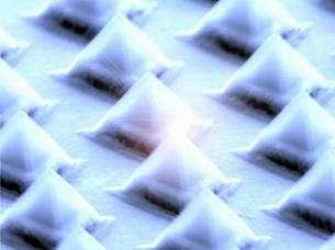 Nanopyramids of Gallium Arsenide