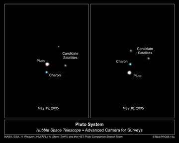 Hubble Reveals Possible New Moons Around Pluto
