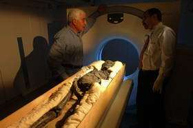 Tutankhamun Examined in a CT Scanner