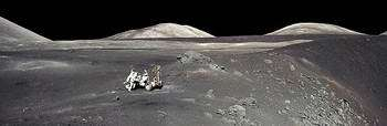 The surface of the Moon is exposed to space radiation
