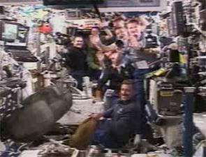Expedition 13 Welcomes STS-115 Aboard Station