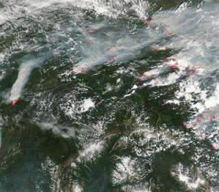 Smoke from Alaska and Canada
