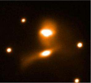 A group of interacting galaxies in the cluster Abell 1367.