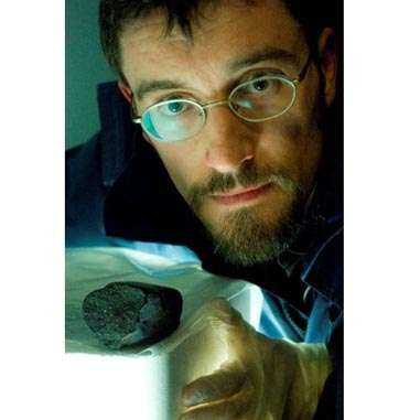 Dr. Christopher Herd takes a closer look at the Tagish Lake meteorite.