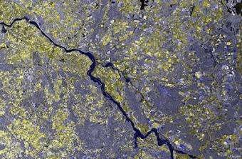 Massive German floods monitored from space