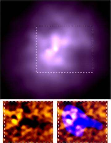 Cosmic battle creates Milky-Way sized tunnel