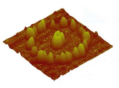 Nanoparticles self-assemble through chemical lithography