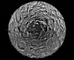 This undated photo shows the South Pole of the Moon