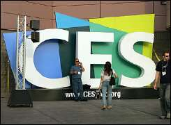 Consumer Electronics Show sign in Las Vegas