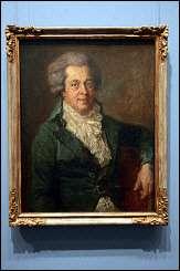 A portrait of Austrian Composer Wolfgang Amadeus Mozart by German painter Johann Edlinger
