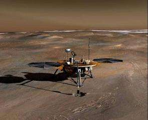 Phoenix Lander heading to Mars in 2007.