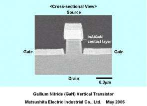 Panasonic Develops the World's First GaN Vertical Transistor