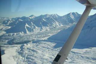 Chance discovery: Alaska Range glacier surges