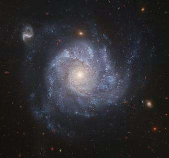 Hubble Snaps Images of a Pinwheel-Shaped Galaxy