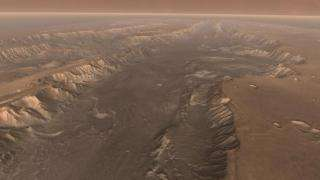 Years of Observing Combined Into Best-Yet Look at Mars Canyon